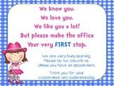 We know you We love you Door Sign