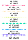 We learn verbs poster