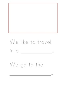 We like to travel in.... mini booklet