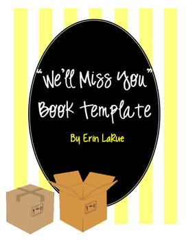 We'll Miss You Memory Book