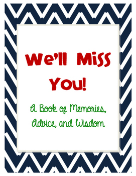 We'll Miss You Memory Book