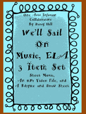 THANKSGIVING: PILGRIMS We'll Sail On Music, ELA: 3 Item Set
