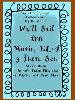 THANKSGIVING: PILGRIMS We'll Sail On Music, ELA: 3 Item Set