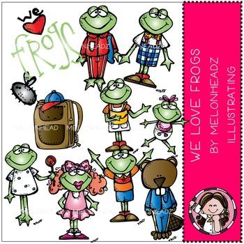 We love frogs clip art - by Melonheadz