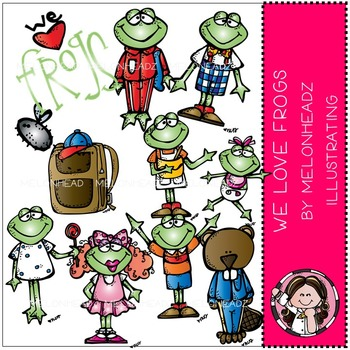 We love frogs clip art - COMBO PACK- by Melonheadz