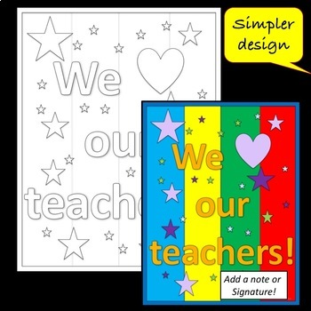 We love our Teachers! Coloring Page - Mini Poster