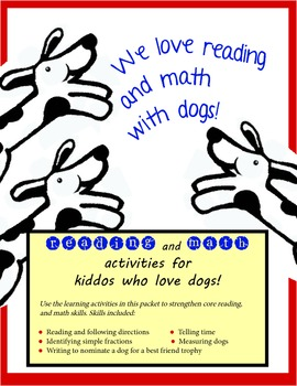 We love reading and math with dogs! Activity Packet