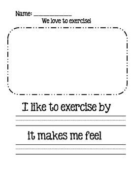 We love to exercise!