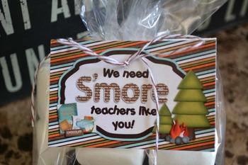 We need S'more Teachers like you printable gift bag topper and tag set