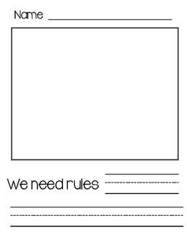 We need rules...writing page FREEBIE