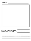 We need rules...writing page FREEBIE