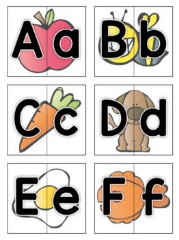 We're A Match!: Alphabet and Initial Sounds Back to School Matching Activities