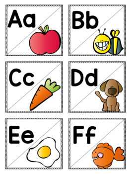 Match It Up: Letter ID and Initial Sounds Back to School Activity