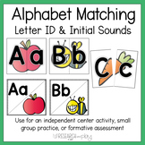 Back to School Letter ID and Initial Sounds Matching Activities