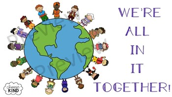 We're All In It Together-Multicultural Poster