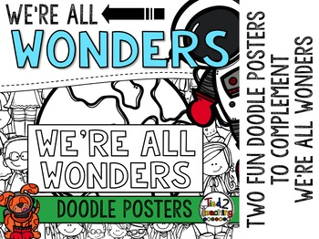 We're All Wonders - Book Companion Doodle Posters