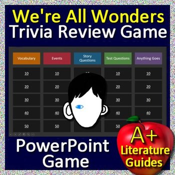 We're All Wonders Bundle - Book Guide AND Review Game - Print AND Paperless