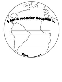 We're All Wonders Craftivity