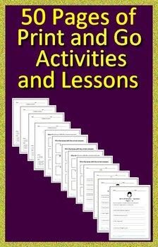 We're All Wonders Interactive Read Aloud Activities Print AND Paperless Versions