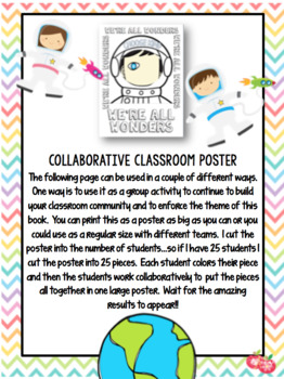 We're All Wonders Printable Resource Pack QR Codes Common Core