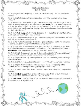 We're All Wonders: Text-Dependent Questions and More!