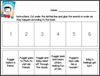 We're All Wonders Worksheet Pack
