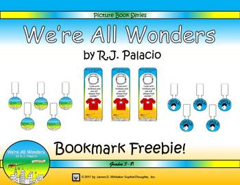 We're All Wonders by R.J. Palacio Bookmarks Freebie