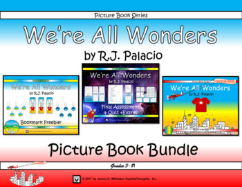 We're All Wonders by R.J. Palacio Picture Book Bundle