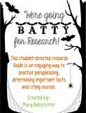 We're Going BATTY for Research! [Bat Research Project]