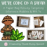 We're Going On A Safari Paper Bag Activity: Inference Ridd
