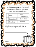 We're Going On a Fall Hunt!
