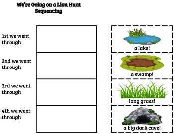 We're Going On a Lion Hunt Sequencing
