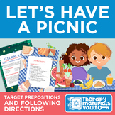 Practice Prepositions and Following Directions: Picnic Activity