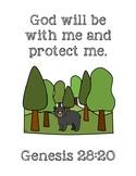 We're Going on a Bear Hunt Bible Verse Printable (Genesis 28:20)