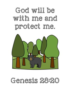 We're Going on a Bear Hunt Bible Verse Printable (Genesis 28:20)