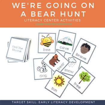 Language & Early Literacy Task Cards - We're Going on a Bear Hunt