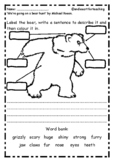 We're Going on a Bear Hunt: Character Writing & Speech Bubbles Templates