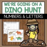 We're Going on a Dino Hunt - Letter/Number Scavenger Hunt