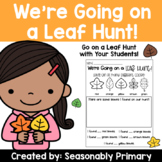 We're Going on a Leaf Hunt   Counting Leaves Outdoor Scave