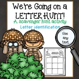 Letter Identification & Recognition Scavenger Hunt Activity