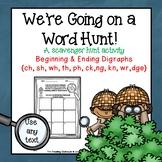 We're Going on a Word Hunt - Digraphs Scavenger Hunt