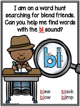 We're Going on a Word hunt - Blends Scavenger Hunt