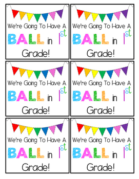 We're Going to Have a Ball in First Grade