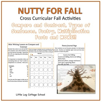 We're Nutty For Fall Writing and Math Fun