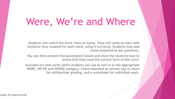 We're, Were, and Where Grammar