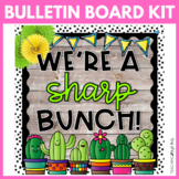 We're a Sharp Bunch Cactus Bulletin Board Kit