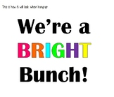 We're a bright bunch! bulletin board letters