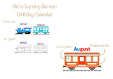 We're learning German - Birthday Calendar - Train