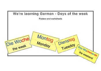 We're learning German - Weekdays