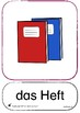 We're learning german - 76 falsch cards, Schoolthings and figures